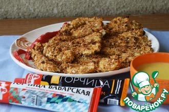Рецепт: Куриные палочки с горчичным соусом