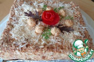 Рецепт: Слоеный пирог с копченым сыром