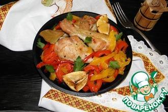 Рецепт: Куриные голени с перцем