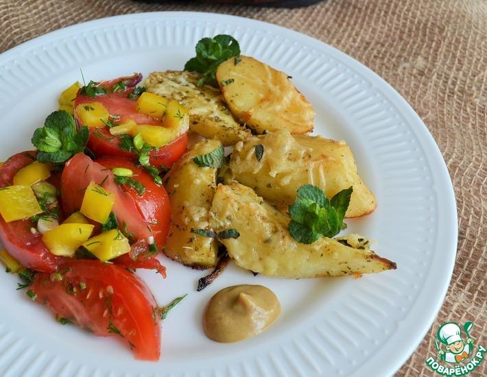 Рецепт: Картофель мятно-сырный