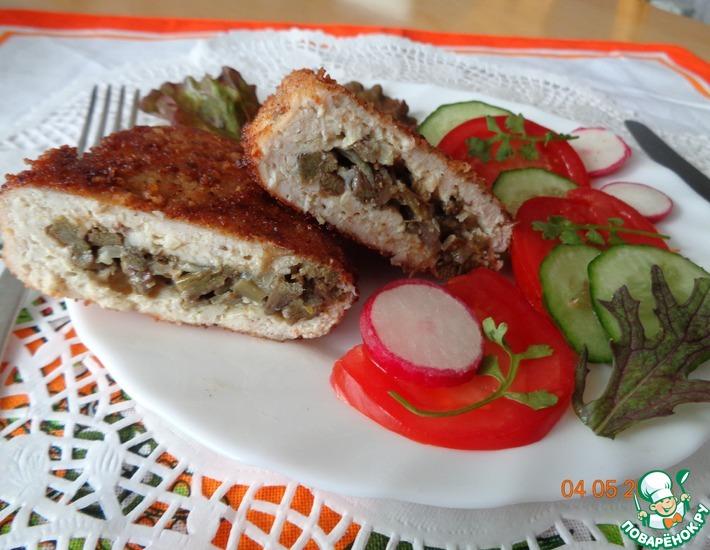 Рецепт: Зразы куриные с папоротником
