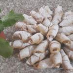 Песочные рогалики с яблочной начинкой
