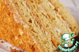Рецепт: Торт Медовый поцелуй