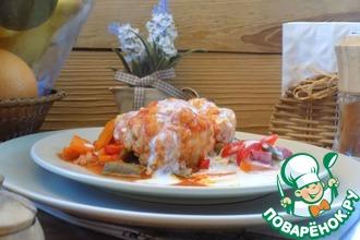 Рецепт: Запечённые куриные тефтели с овощами