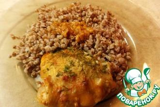 Рецепт: Курица с ароматной подливой