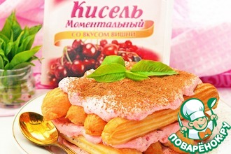 Рецепт: Творожно-ягодный десерт Дамские пальчики