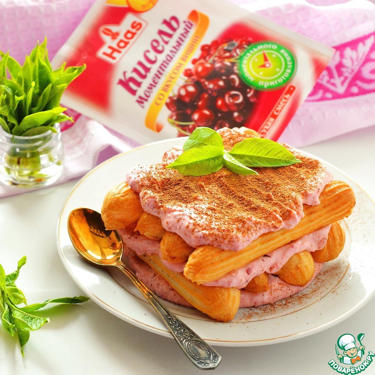 """Творожно-ягодный десерт """"Дамские пальчики"""""""