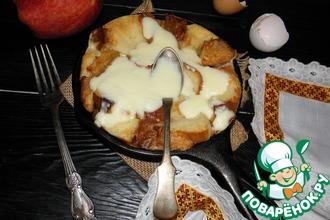 Рецепт: Яблочная карамельная страта