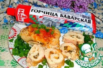 Рецепт: Куриные рулетики с сыром и зеленью