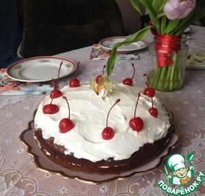 """Торт """"Негр в пене"""" - пошаговый рецепт с фото на Повар.ру"""
