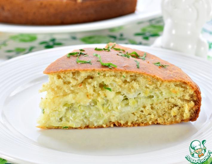 Рецепт: Быстрый пирог с молодой капустой