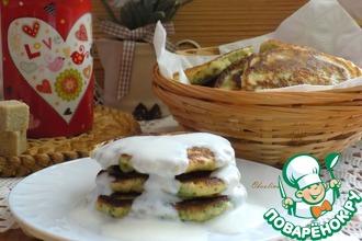 Рецепт: Оладьи с зеленью на завтрак