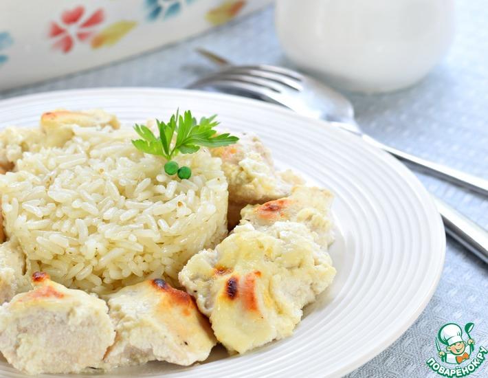 Рецепт: Куриное филе в сметане