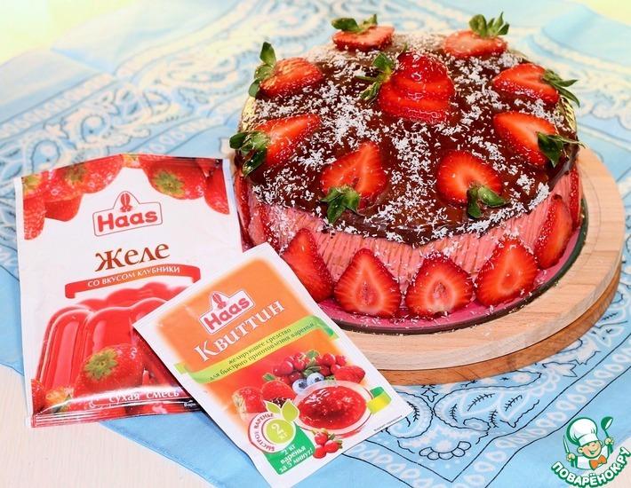 Рецепт: Торт Орехово-клубничный