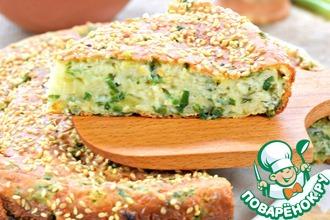 Рецепт: Быстрый луковый пирог с сыром