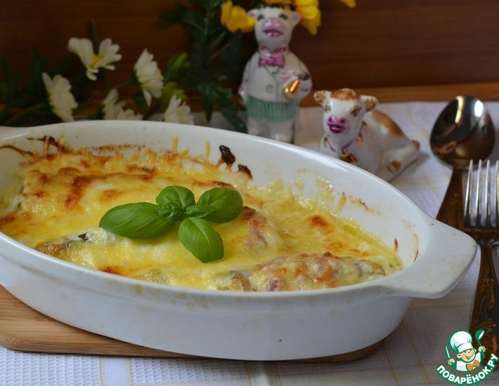 Рецепт: Запеченная спаржа в сливочном соусе