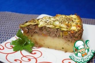 Рецепт: Мясная запеканка с кабачком