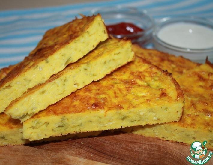 Рецепт: Заливной пирог с кабачками
