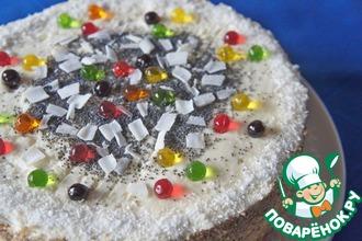 Рецепт: Кокосово-маковый торт