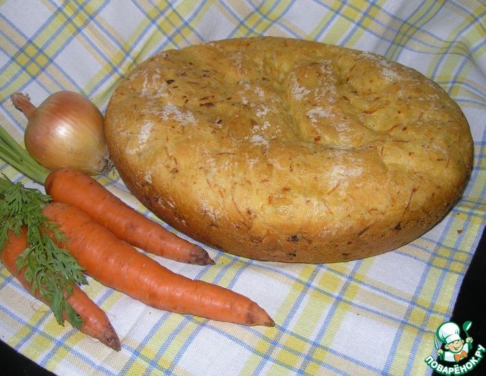 Рецепт: Морковно-луковый хлеб