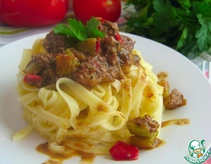 Рецепт: Печеночно-овощное рагу
