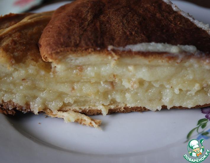 Рецепт: Монастырский молочный пирог