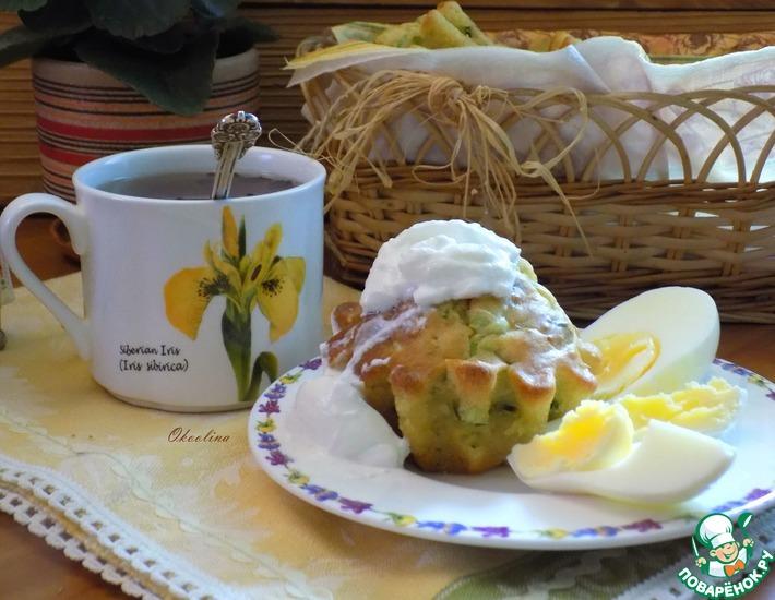 Рецепт: Кексы к завтраку из молодой капусты