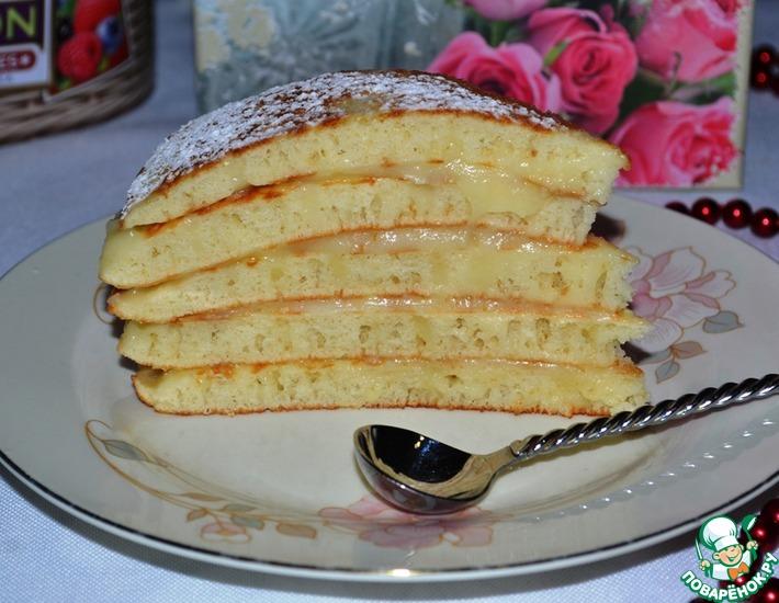 Рецепт: Быстрый торт на сковороде Пушинка