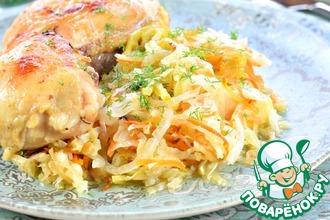 Рецепт: Курица с овощами Рецепт ленивой хозяйки