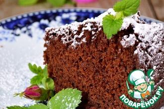 Рецепт: Постный шоколадный кекс