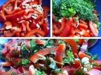 Салат из баклажанов с перцем и чесноком ингредиенты