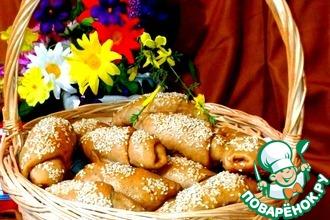 Рецепт: Кофейные булочки с сухофруктами
