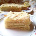 Постный лимонный торт Наполеон