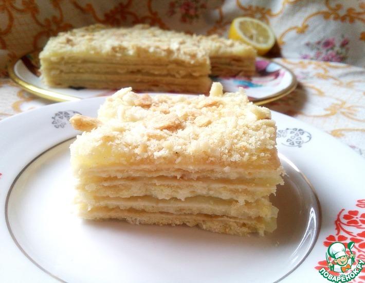 Рецепт: Постный лимонный торт Наполеон
