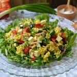 Салат с макаронами и овощами