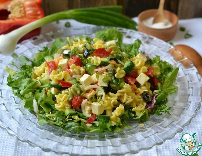 Рецепт: Салат с макаронами и овощами