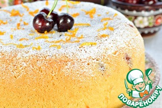 Рецепт: Ягодный бисквитный пирог