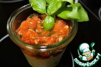 Рецепт: Яичный салат с соусом из помидоров