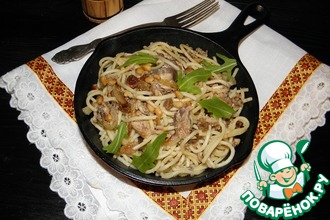 Рецепт: Спагетти с соусом из сардин