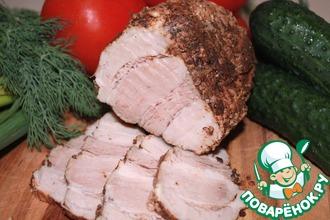 Рецепт: Свиная грудинка вареная