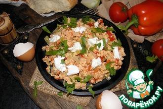 Рецепт: Турецкая яичница с овощами