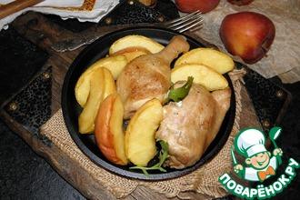 Рецепт: Фрикасе с курицей и яблоками Интересное