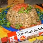 Мясной террин с печенью и грибами