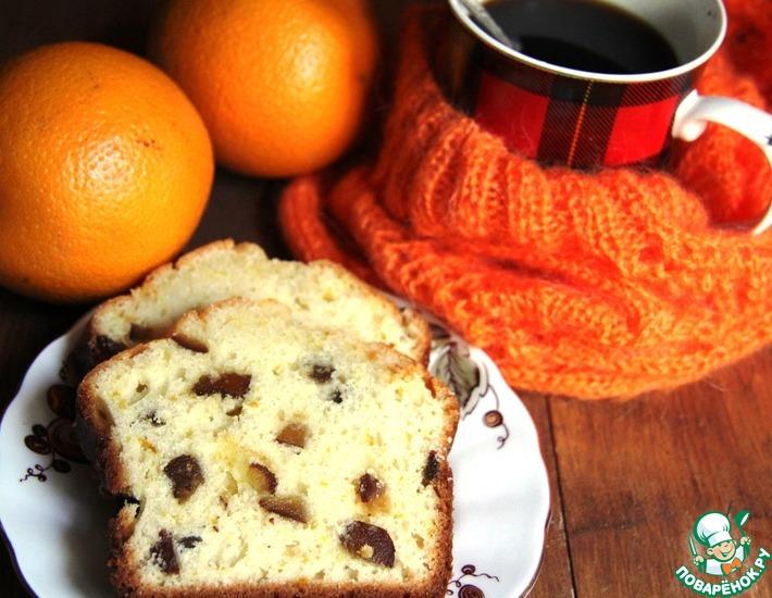 Рецепт: Апельсиново-финиковый кекс