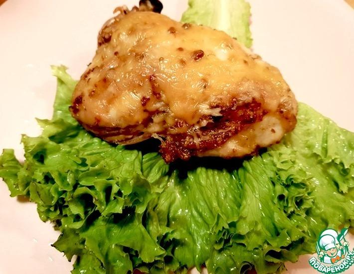 Рецепт: Куриные бедрышки, запеченные с сыром