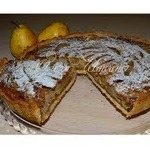 Кофейно-грушевый пирог с орехами