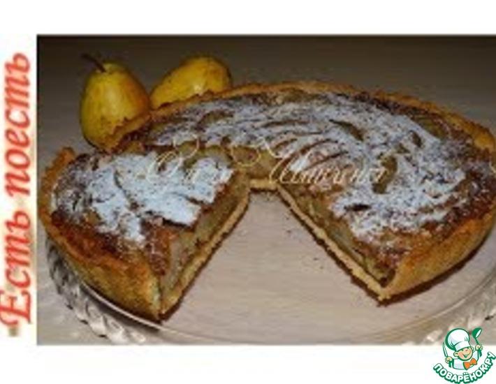 Рецепт: Кофейно-грушевый пирог с орехами