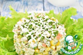 Рецепт: Салат с курицей и кукурузой