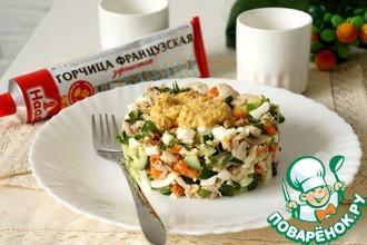 Рецепт: Салат с курицей и горчичной заправкой