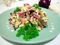 Салат с баклажаном и яйцом